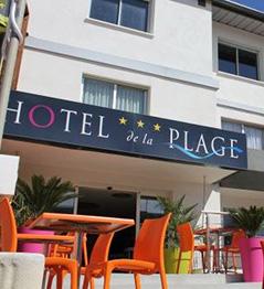 Devanture hotel de la plage Palavas